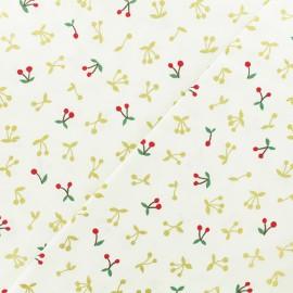 Tissu coton Kokka Gold Cherry - écru x 10cm