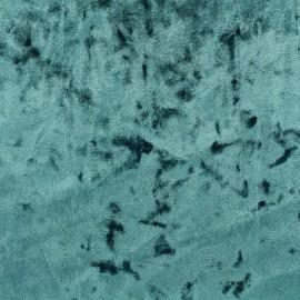 Tissu velours Frappé Élasthanne Betty - Bleu glacial x10cm