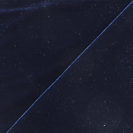 Tissu velours ras jersey Gina - Bleu marine x10cm
