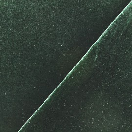 Tissu velours ras jersey Gina - vert sapin x10cm
