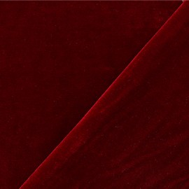 Tissu velours ras jersey Gina - rouge passion x10cm