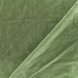 Tissu velours ras jersey Gina - vert sauge x10cm