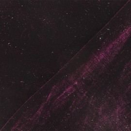 Tissu velours ras jersey Gina - violet foncé x10cm