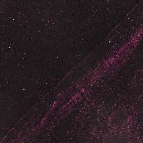 Short jersey velvet fabric - Dark purple Gina x10cm