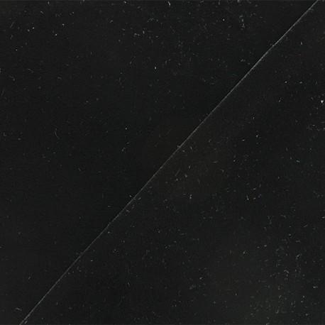 Tissu velours ras jersey Gina - noir x10cm