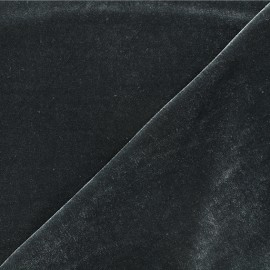 Short jersey velvet fabric - dark grey Gina x10cm