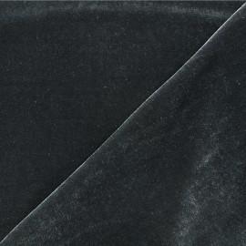 Tissu velours ras jersey Gina - Gris foncé x10cm