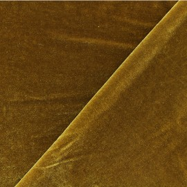 Short jersey velvet fabric - gold Gina x10cm