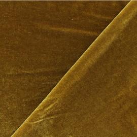 Tissu velours ras jersey Gina -or x10cm