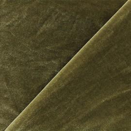 Tissu velours ras jersey Gina - brun-vert x10cm