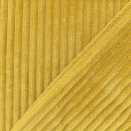 Doubled-Sided Minky Ribbed Velvet Fabric - mustard x 10cm