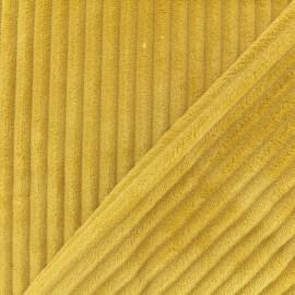 Tissu velours minkee côtelé recto/verso - moutarde x 10cm