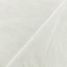Tissu Doudou Moon n' Star - écru x 10cm
