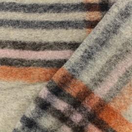 Wool fabric - grey Savoie x 30cm