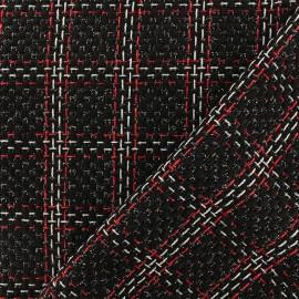 Lurex Tweed fabric - black Emma x 10cm