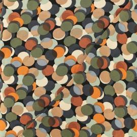 Tissu Viscose Multi dots - potiron x 10cm