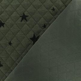 Tissu matelassé simple face Tina - Kaki x10cm