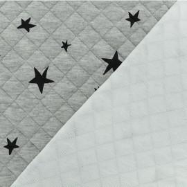 Tissu matelassé simple face Tina - Gris clair x10cm