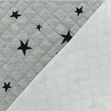 Quilted fabric single-sided Tina - light grey x 10cm