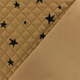 Quilted fabric single-sided Tina - Ochre x 10cm