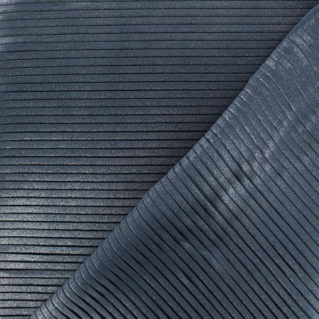 Tissu plissé Nuit Sublime - bleu marine x 10 cm