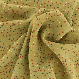 Muslin Fabric - Mustard confetti x 50cm