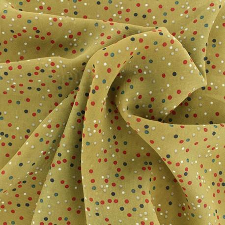 Tissu mousseline Confetti - Moutarde x 50cm