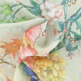 Muslin Fabric - Beige Autumn in japan x 50cm