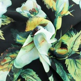 Tissu Microfibre Linda - noir x 10cm