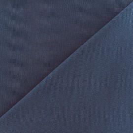 Tissu toile de coton uni Canevas Delson - bleu gris x 10cm