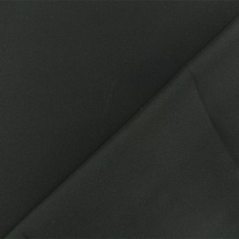 Bridal Satin Fabric - black x 10cm