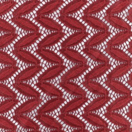 Lace Fabric Anna - Burgundy x 10cm
