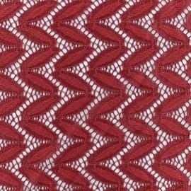 Tissu Dentelle Anna - Bordeaux x 10cm