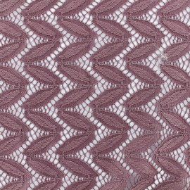 Tissu Dentelle Anna - Bois de rose x 10cm