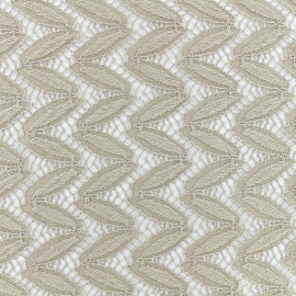 Lace Fabric Anna - Taupe x 10cm