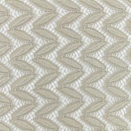 Tissu Dentelle Anna - Taupe x 10cm