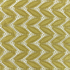 Tissu Dentelle Anna - Vieil Or x 10cm
