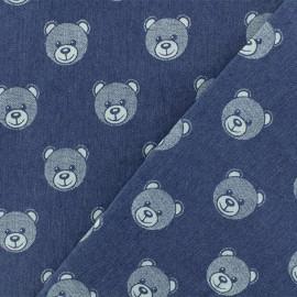 Jeans fabric Teddy Bear - light x 31cm
