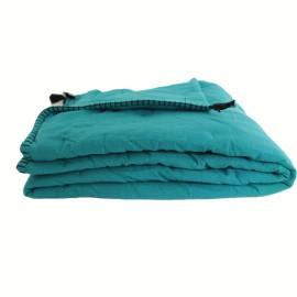 Quilted Blanket 90x190 cm - Peacock Portofino