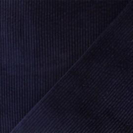 Thick ribbed velvet fabric - Dark blue Charlie x 10cm