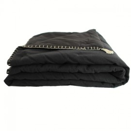 Quilted Blanket 90x190 cm - Black Portofino