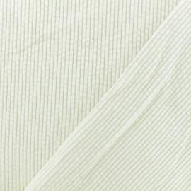 Tissu velours grosses côtes Charlie - Blanc cassé x10cm