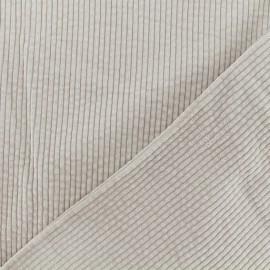 Thick ribbed velvet fabric - Beige  Charlie x 10cm