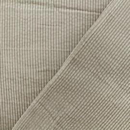 Tissu velours grosses côtes Charlie - Taupe x10cm