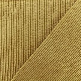 Thick ribbed velvet fabric - Golden brass Charlie x 10cm