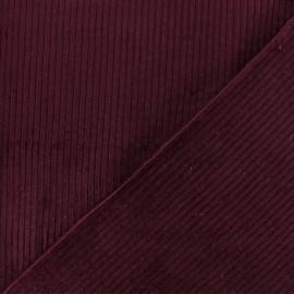 Tissu velours grosses côtes Charlie - Bordeaux x10cm