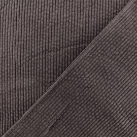 Thick ribbed velvet fabric - Brown Charlie x 10cm