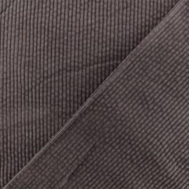 Tissu velours grosses côtes Charlie -  Marron x10cm
