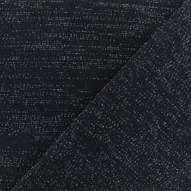 Tissu jersey lurex - Noir/Or x 10cm