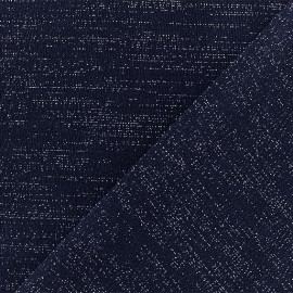 Lurex Jersey Fabric - Blue/Silver - x 10cm